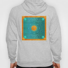 """Turquoise and Gold Mandala"" Hoody"