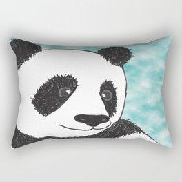 Panda Face Rectangular Pillow
