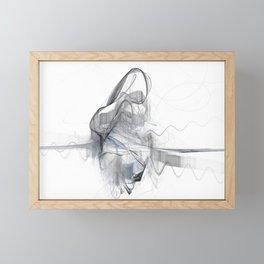 Sawing Framed Mini Art Print