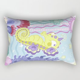 the Majestic Magical Seahorse Unicorn Rectangular Pillow