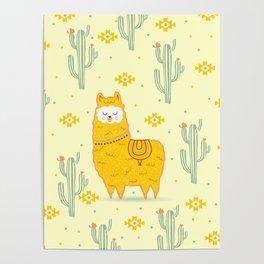 Alpaca summer Poster