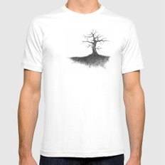 tree on the hill Mens Fitted Tee White MEDIUM