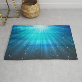 Fantasy Water Turquoise Blue Rug