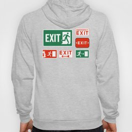 Evacuation Day Exit Sign Hoody