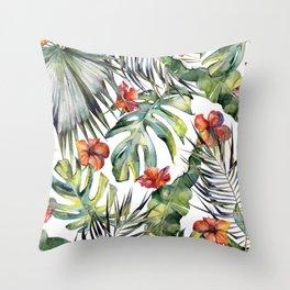 TROPICAL GARDEN 5 Throw Pillow