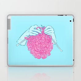 Knitting a brain Laptop & iPad Skin