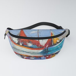 Sailboats in the sea Fanny Pack