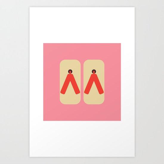 Japan Geta Art Print