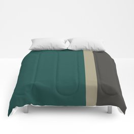 Bold Forest And Grey Comforters