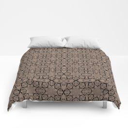 Warm Taupe Geometric Comforters