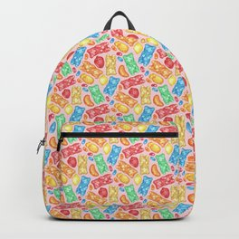 Gummies Galore - A happy array of rainbow of hand-drawn fruity flavored gummies and jelly beans Backpack