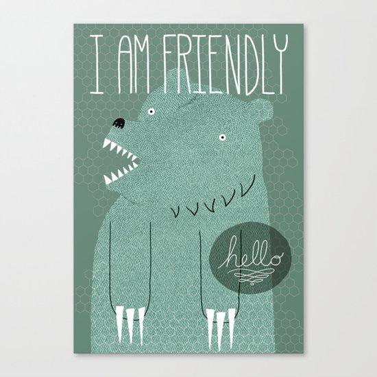 Friendly Bear Canvas Print