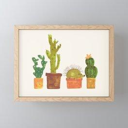 Hedgehog and Cactus (incognito) Framed Mini Art Print