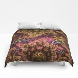 Dragon dreams, fractal pattern abstract Comforters