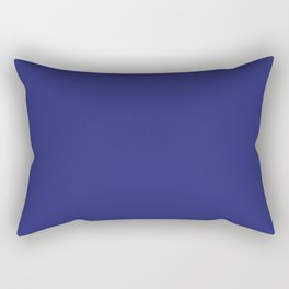 Navy Blue Solid Color Rectangular Pillow