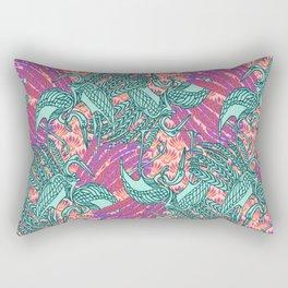 Garzas-Moradas Rectangular Pillow