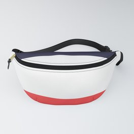 Blue White & Red Color-Block Stripe Fanny Pack