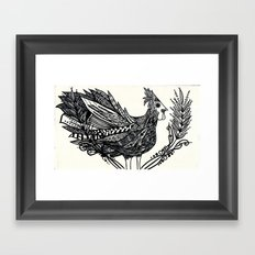 Funky Chicken Framed Art Print