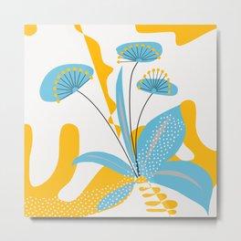 Blue Blooms Metal Print