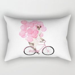 Riding Llama with Pink Balloons #1 Rectangular Pillow