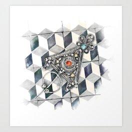 Moroccan Berber fibula Art Print