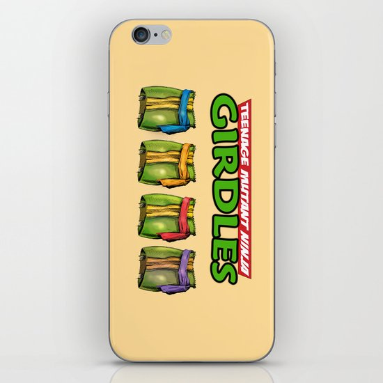 Teenage Mutant Ninja Girdles iPhone & iPod Skin