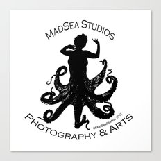MadSea Nymph, black on white Canvas Print