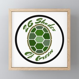 26ShadesofGreen Logo Framed Mini Art Print