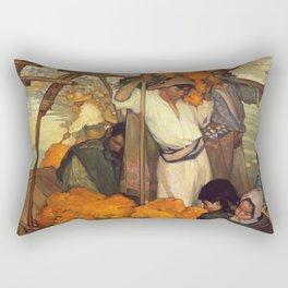 Saturnino Herran - The Offering, 1913 Rectangular Pillow