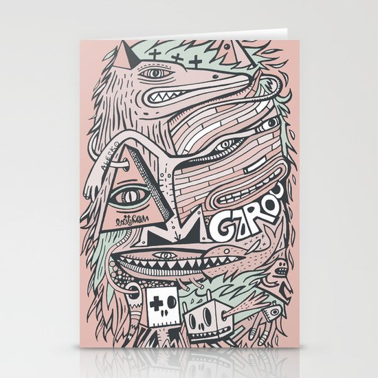 Hirsute Stationery Cards