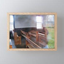 Through the Church Window Framed Mini Art Print