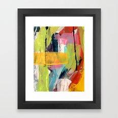 Hopeful[2] - a bright mixed media abstract piece Framed Art Print