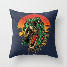 Zombie T-Rex Throw Pillow