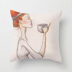 Cup of tea Throw Pillow