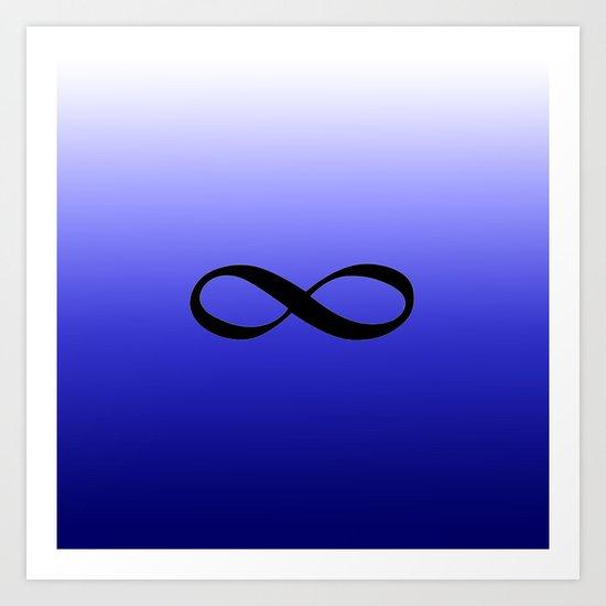 Blue Infinity Art Print