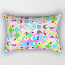 Circle Quarters Rectangular Pillow