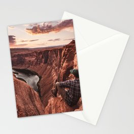 on top of the rock Stationery Cards