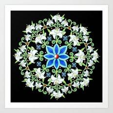 Folkloric Flower Crown Art Print