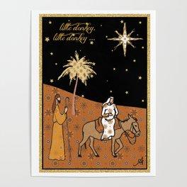 Christmas Nativity - Donkey Amanya Design Poster