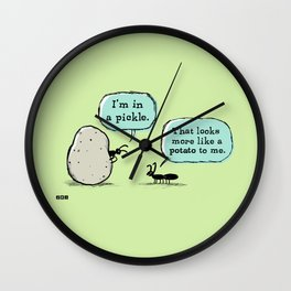 In A Pickle Wall Clock