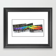 Gay Pride Parade 2011 Framed Art Print