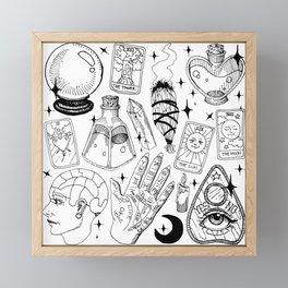 Fortune Teller Starter Pack Black and White Framed Mini Art Print