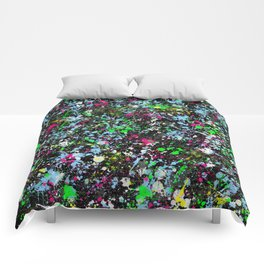 paint drop design - abstract spray paint drops 2 Comforters