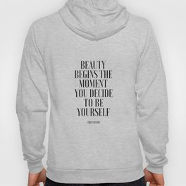 Girls Quote Beauty Begins Fashion Wall Art FASHIONISTA Poster Home Decor Quote Hoody