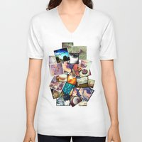 instagram V-neck T-shirts featuring Instagram  by Nic Moore
