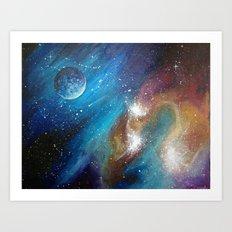 Colorful Galaxy Art Print
