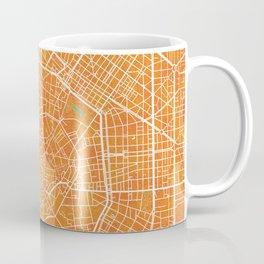 Milan, Italy, Gold, Blue, City, Map Coffee Mug