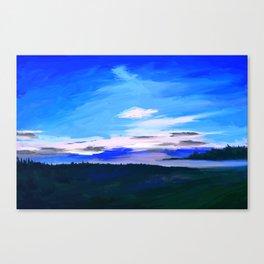 Landscape in blue colors Canvas Print