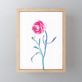One Flower - Study 2. Front Framed Mini Art Print