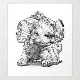 The South Highland Ram Dog Art Print